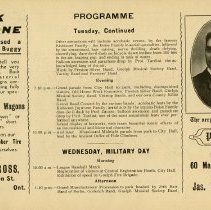 Image of Programme, Tuesday, Wednesday (Military Day), p.25