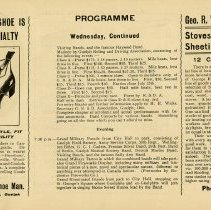 Image of Programme, Wednesday, Afternoon and Evening, p.33