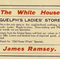 Image of The White House Advertisement, inside back cover