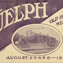Image of Guelph Old Home Week Program, August 1908