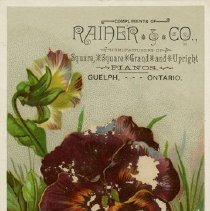 Image of Advertising Card, Rainer & Co. Pianos