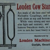 Image of Advertisement for Louden Cow Stanchions