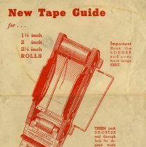 """Image of Instructions for """"New Tape Guide"""""""