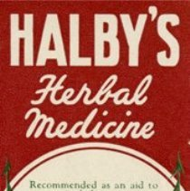 Image of Halby's Herbal Medicine Bottle Label