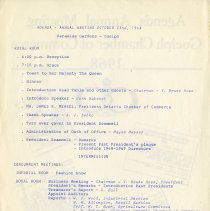 Image of Agenda - Annual Meeting, October 23rd, 1968