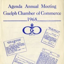 Image of Agenda Annual Meeting, Gueph Chamber of Commerce, 1968