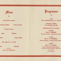 Image of Menu and Programme