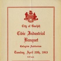 Image of Civic Industrial Banquet Program, April 20, 1943