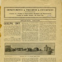 "Image of ""Improvements, Progress, Enterprise - Guelph, Ont."" page 1"