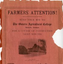Image of Advertisement for O.A.C., back cover