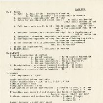 Image of City of Guelph Industrial Analysis, 1963, page 2