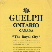 "Image of ""Guelph, Ontario, Canada, ""The Royal City,"" c.1950"