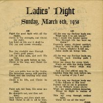 Image of Ladies Night, March 6th, 1938