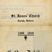 Image of St. James Church Golden Jubilee Program
