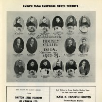 Image of Guelph Intermediate Hockey Club, O.H.A. Runners-up, 1922-23, p.11