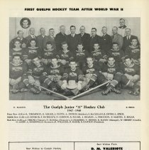 Image of First Guelph Hockey Team after World War II, p.6