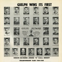 "Image of Guelph Biltmore Junior ""A"" O.H.A. Hockey Championship Club, 1949-50"