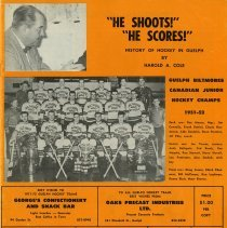 "Image of ""He Shoots! He Scores! History of Hockey in Guelph"" by Harold Cole"