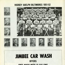 Image of Hockey Guelph Biltmores, 1951-52, p.16