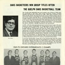 Image of The Guelph Oaks Basketball Team, 1969-70, p.22