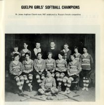 Image of Guelph Girls' Softball Champions, 1927, p.25