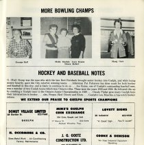 Image of Women's Bowling; Hockey and Baseball Notes, p.29