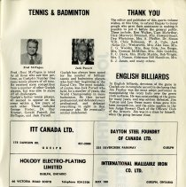 Image of Tennis & Badminton; English Billiards; Thank You, p.31
