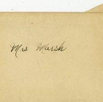 Image of .2 Envelope addressed to Mrs. Marsh