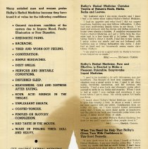 Image of Centre of Advertising Flyer for Halby's Herbal Medicine