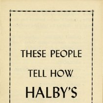 Image of Advertising Flyer for Halby's Remedies