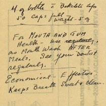 Image of Miscellaneous Note, H.L. Branigan, Pharmacist