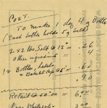 Image of Miscellaneous Note, H. L. Branigan, Pharmacist