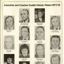 Image of Executive and Coaches, Guelph Holody Platers, 1977-78