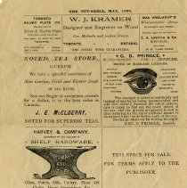 Image of Page of Advertisements, Nut-Shell Newspaper, 1890