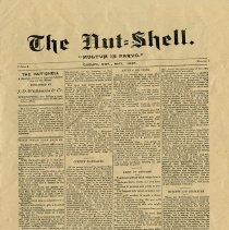 Image of The Nut-Shell Newspaper, May 1890