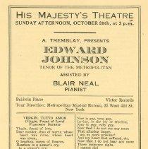Image of Edward Johnson Concert