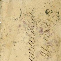 Image of .1 Envelope to Miss Estelle A. Bricker