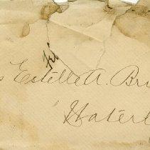 Image of .1 Envelope- Miss Estelle A. Bricker