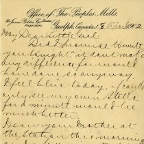 "Image of .2 Letter to ""My Dear Little Girl,"" April 18, 1902"
