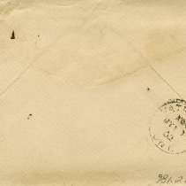 "Image of .1 Back of Envelope, Postmarked ""May 10, 1902"""