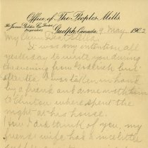 Image of .2 Letter to Stella, May 9, 1902, page 1
