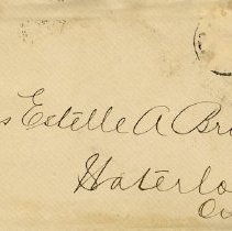 Image of .1 Envelope to Miss Estelle A. Bricker