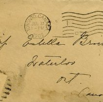 Image of .1 Envelope from Toronto to Miss Estella Bricker, 1902
