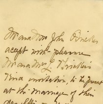 Image of .2 - Reply to Wedding Invitation, August 4, 1902