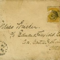 Image of Envelope to Miss Bricker c/o Edward Leybold, Esq., Ottawa, 1888