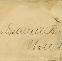 Image of .1 - Envelope to Miss Estelle A. Bricker