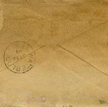 "Image of Back of Envelope, Postmarked ""Jy 20/01"""
