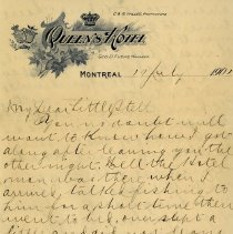 """Image of .2 Letter to """"My Dear Little Stell,"""" July 19, 1901, p.1"""