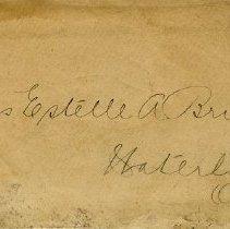 Image of .1 Envelope to Miss Estelle A. Bricker, Waterloo