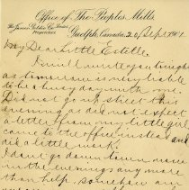 "Image of .2 - Letter to ""Dear Little Estelle,"" Sept 20, 1901, p.1"
